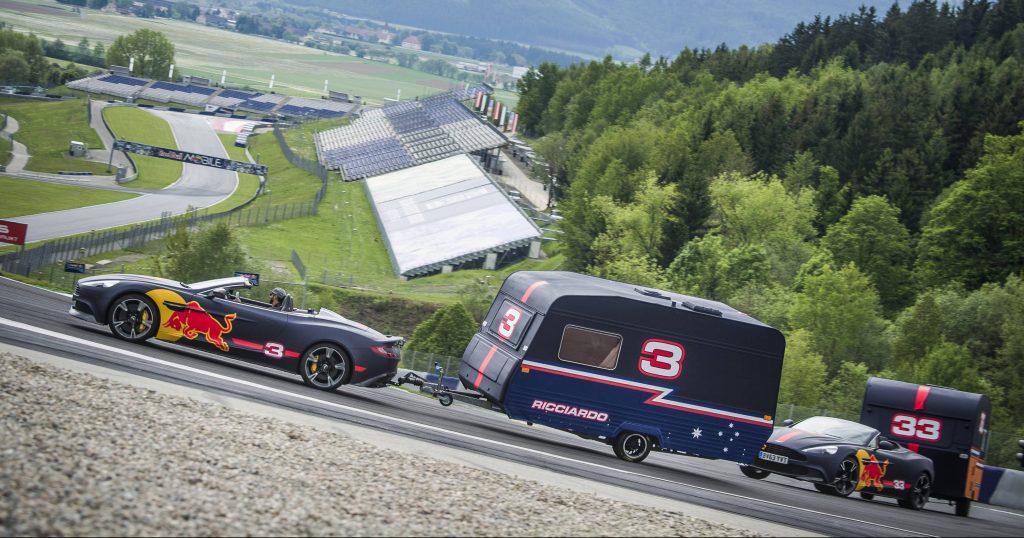 Video – Max Verstappen & Daniel Ricciardo race caravans at the Red Bull Ring