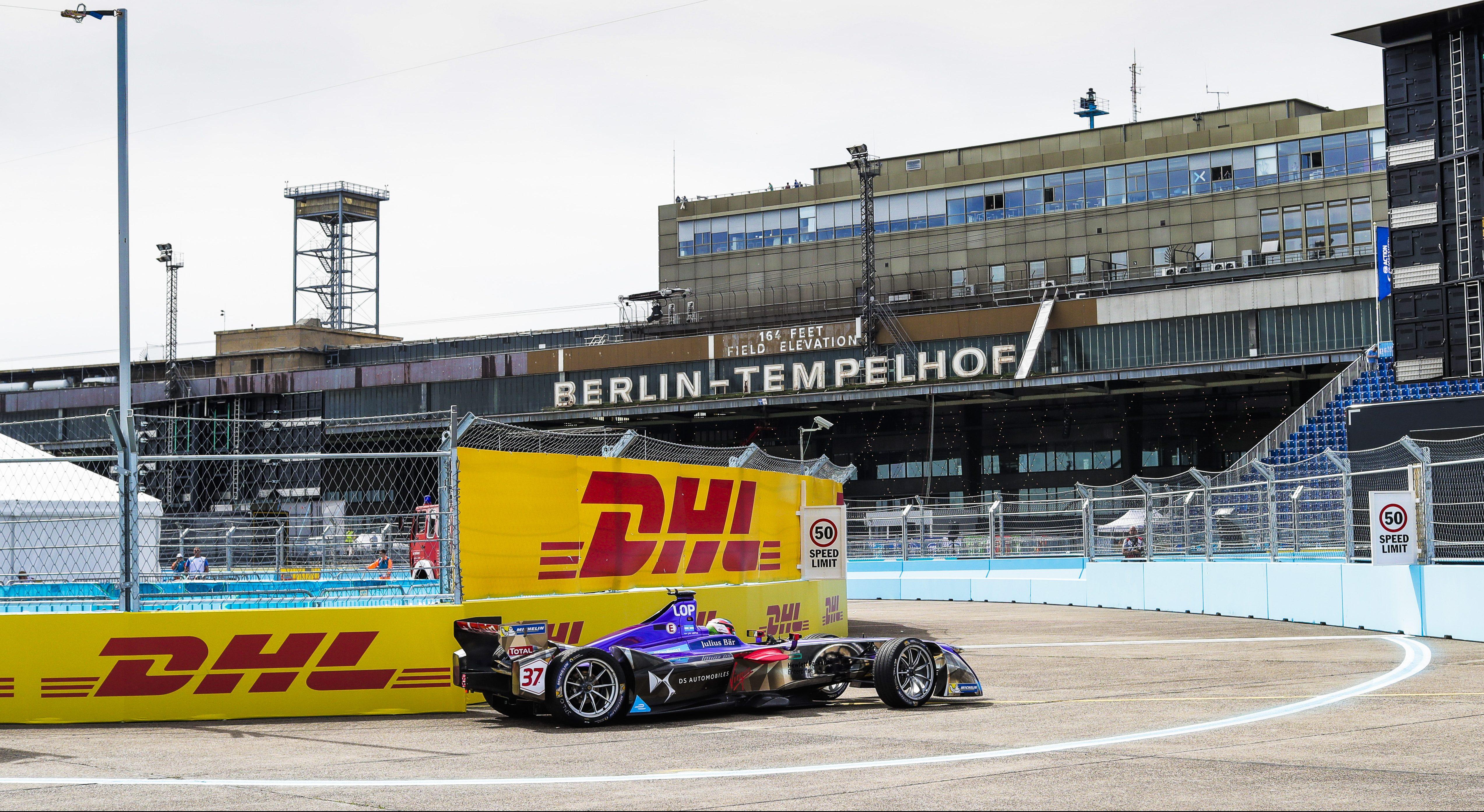Berlin ePrix Tempelhof Practice DS Virgin Racing