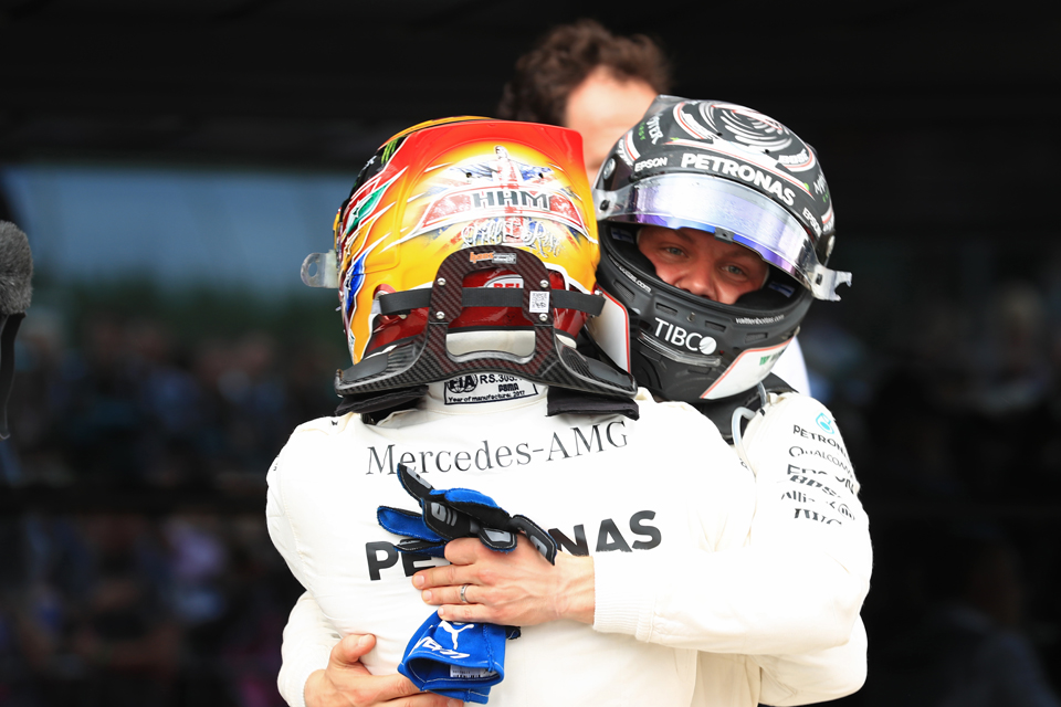 Mercedes Lewis Hamilton Valtteri Bottas British Grand Prix