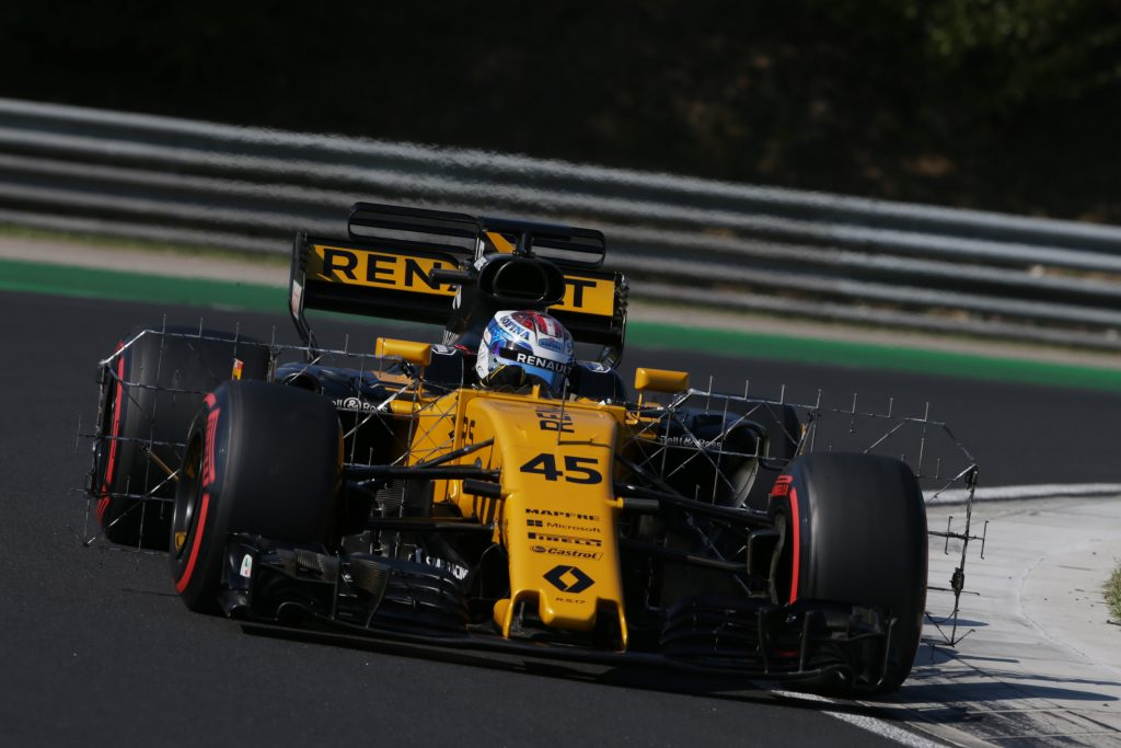 Nicolas Latifi Renault Hungarian Test Day One