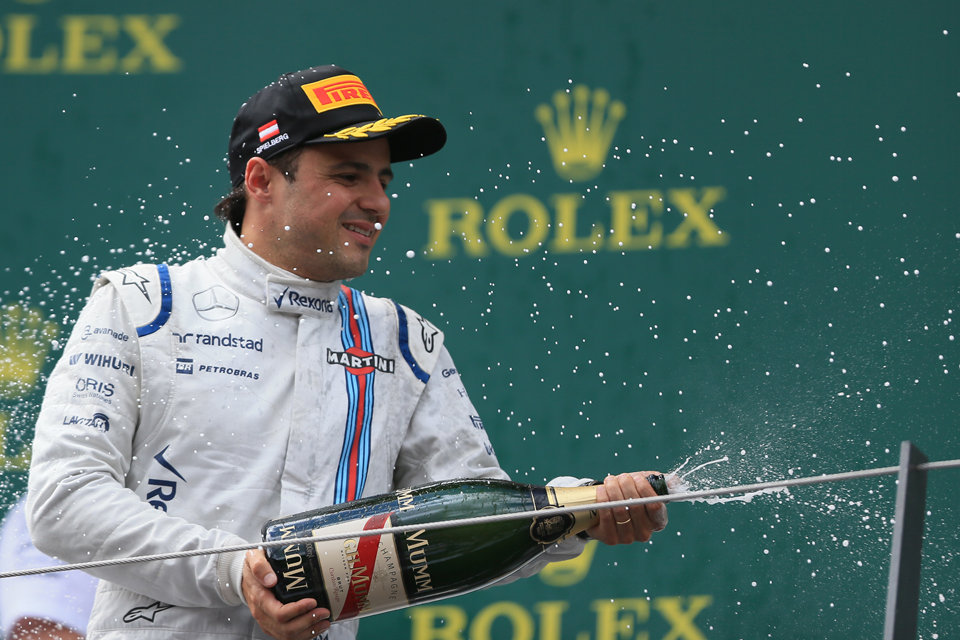 Felipe Massa Williams Austrian Grand Prix 2015 Podium