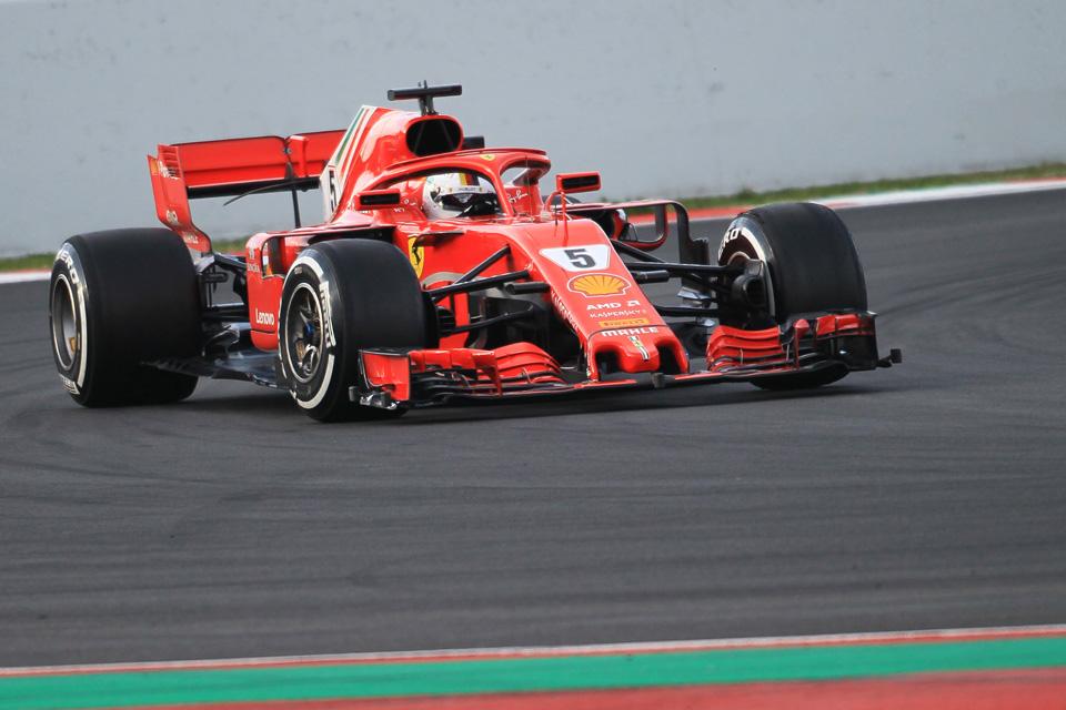 Testing Ferrari Vettel