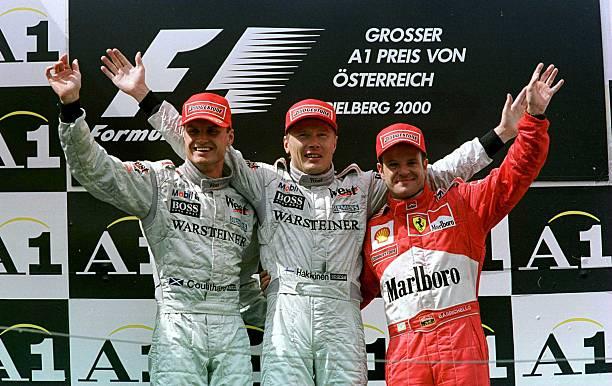 David Coulthard Mika Hakkinen McLaren Rubens Barrichello Ferrari Austria 2001 Formula One