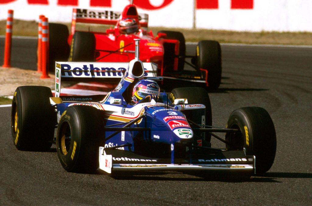 Jacques Villeneuve Williams Michael Schumacher Ferrari Japanese Grand Prix 1997 Formula One