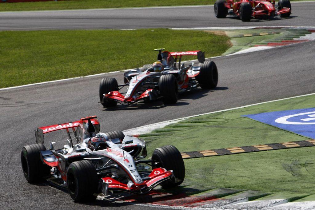 Fernando Alonso McLaren Lewis Hamilton Italian Grand Prix 2007 Formula One