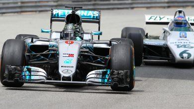 Photo of Gallery: Nico & Keke Rosberg on track for Monaco demo run
