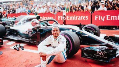 Photo of Hamilton jubilant after German GP win