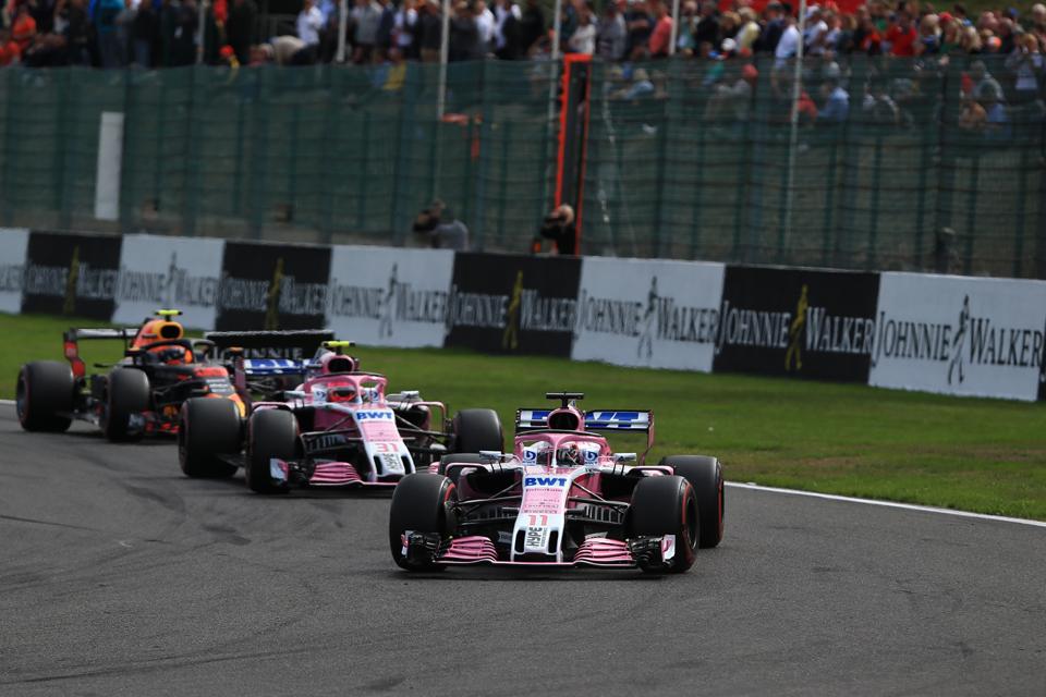 Belgian Grand Prix Racing Point Force India Perez Ocon