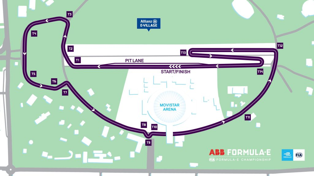 Santiago ePrix Street Circuit