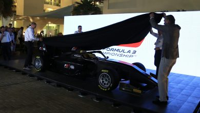 Photo of Covers taken off new Formula 3 car in Abu Dhabi