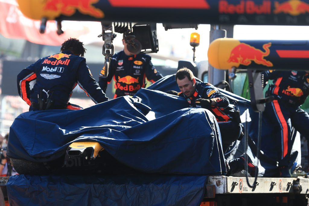 F1 Formula 1 Pierre Gasly testing crash Christian Horner Toro Rosso