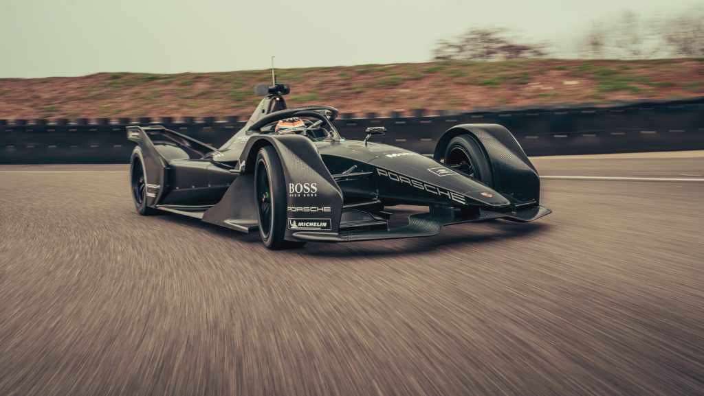 Porsche completes first miles with Formula E car