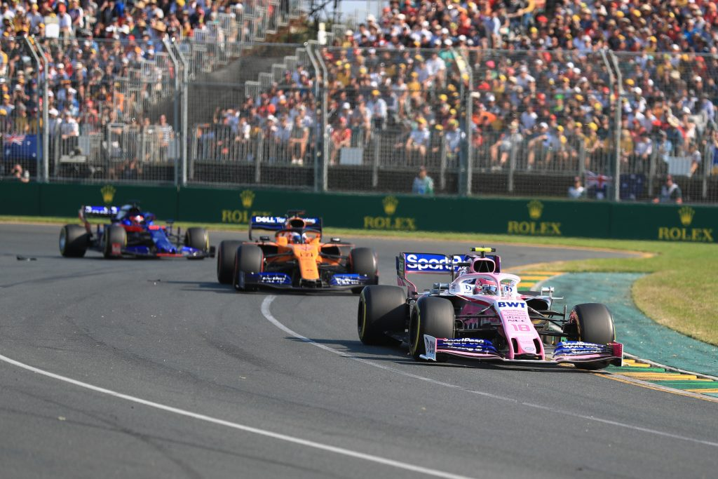 Lance Stroll Carlos Sainz Racing Point McLaren Australian Grand Prix