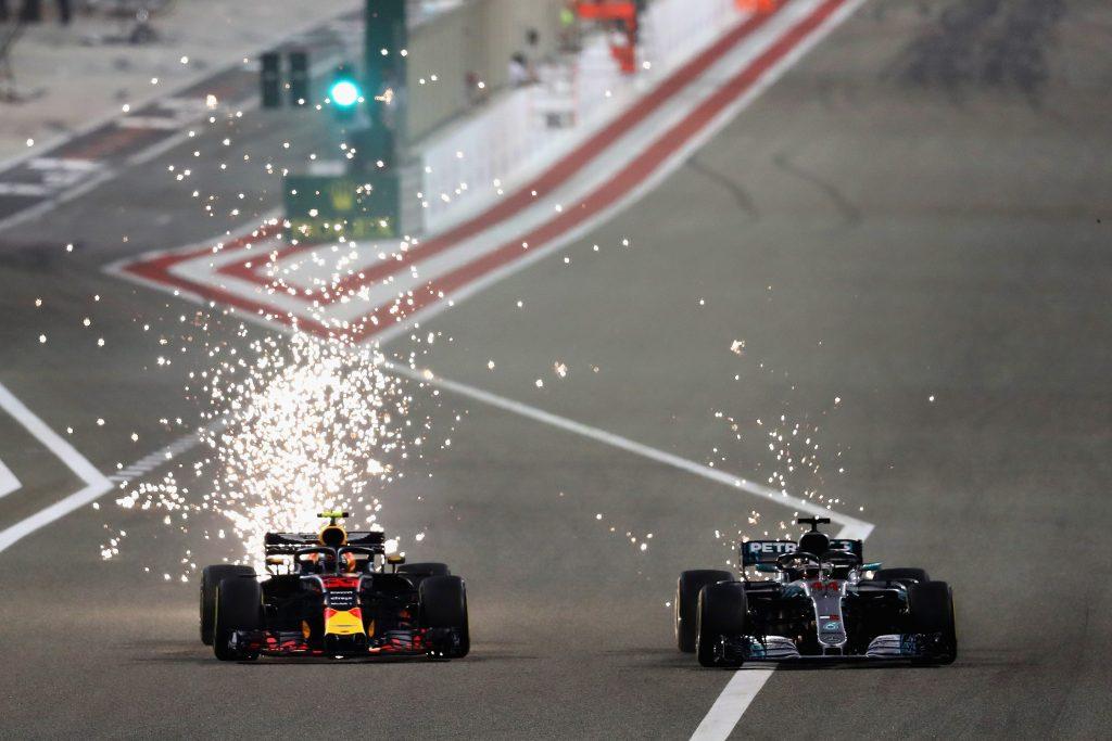 Red Bull Mercedes Bahrain 2018