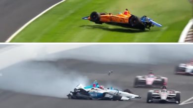 Photo of Alonso & Rosenqvist uninjured after separate Indy 500 practice crashes