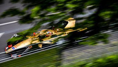 Photo of Vergne on pole for the Swiss E-Prix in Bern.