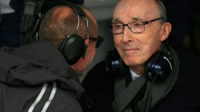 Photo of Williams celebrating 50 years of Sir Frank this weekend