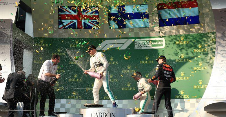 drivers championship Australian GP Podium points