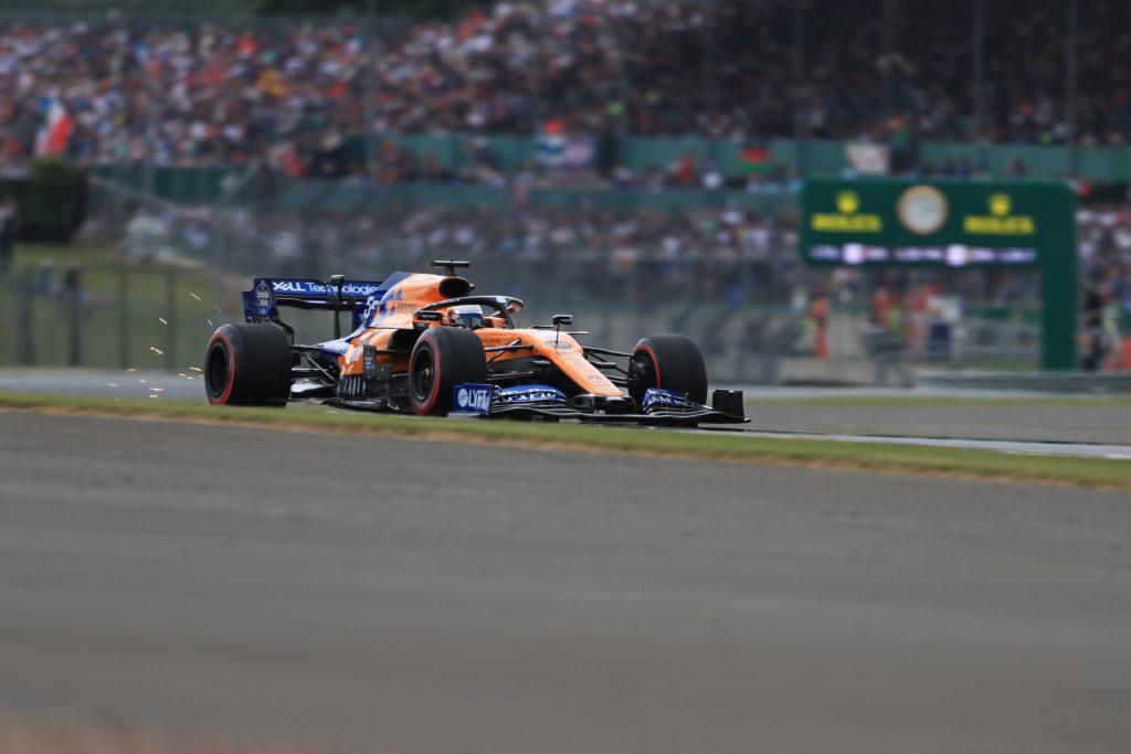 Carlos Sainz McLaren F1 British Grand Prix Silverstone Safety Car