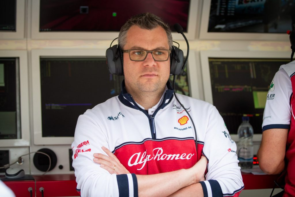 team principal technical director Jan Moncahux - Alfa Romeo