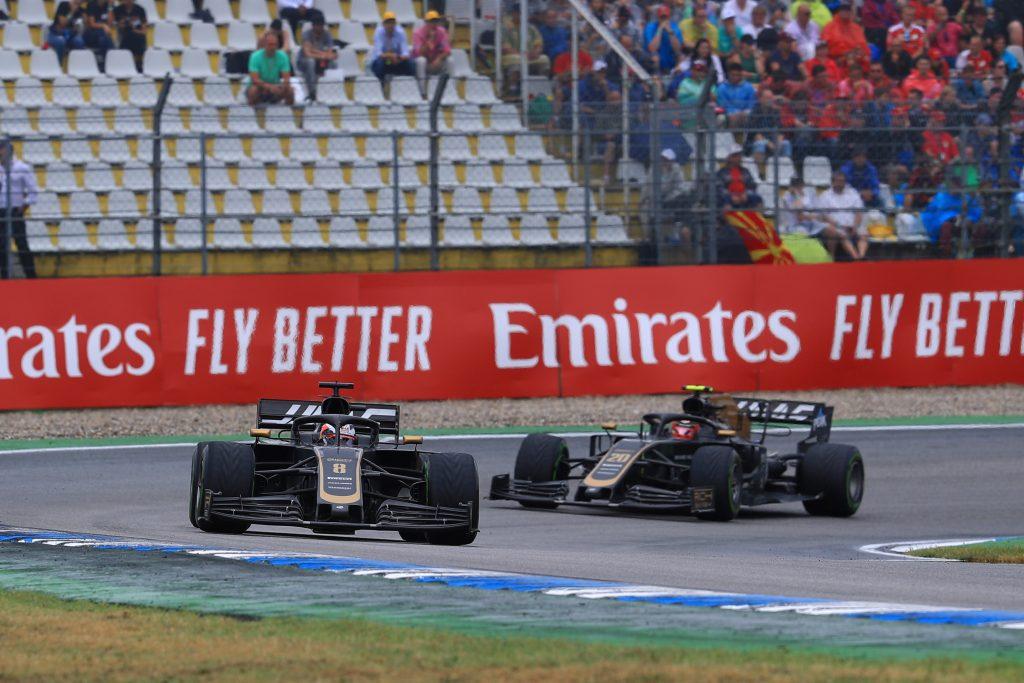 F1 Formula 1 German Grand Prix Haas Romain Grosjean Guenther Steiner Kevin Magnussen