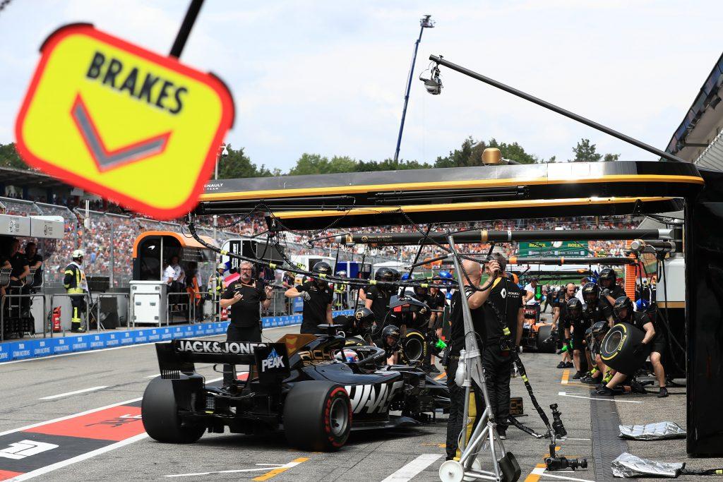 F1 Formula 1 Hungarian Grand Prix Romain Grosjean Kevin Magnussen haas Guenther Steiner