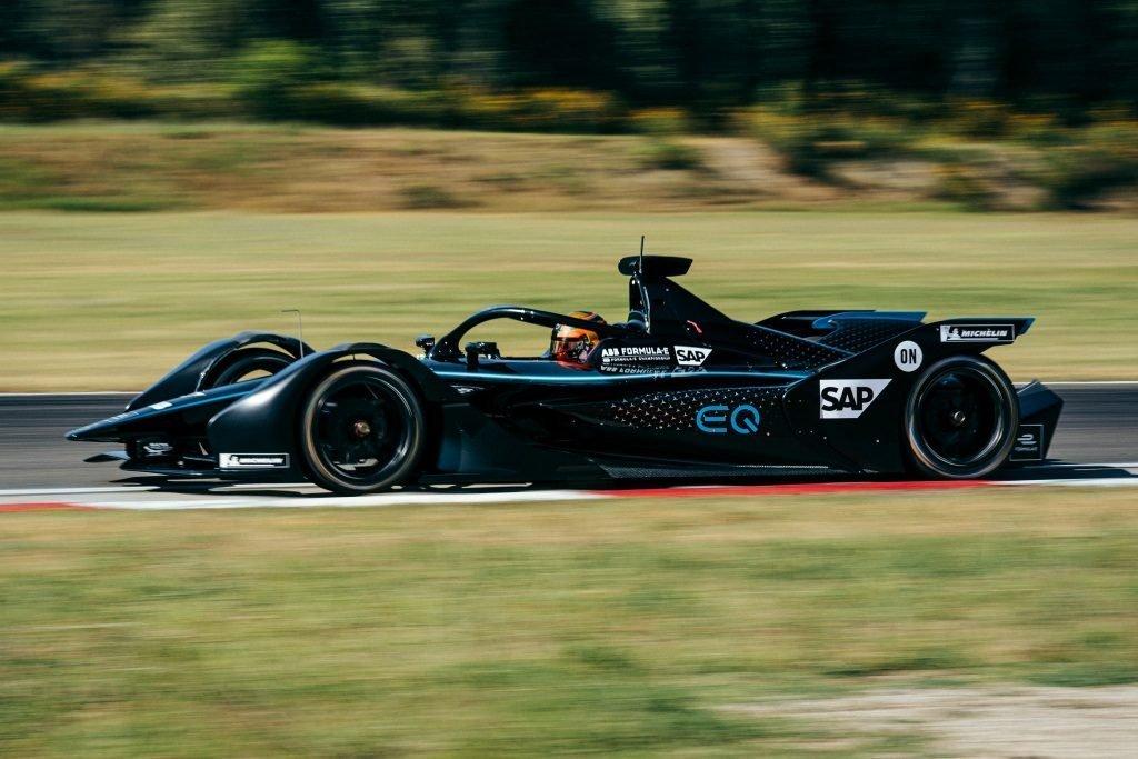 Esteban Gutierrez Formula E Mercedes testing Stoffel Vandoorne