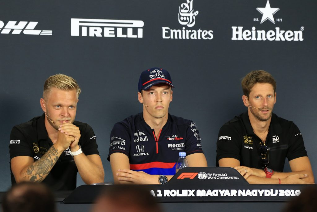 Haas Romain Grosjean Kevin Magnussen Hungarian Thursday Driver Press Conference