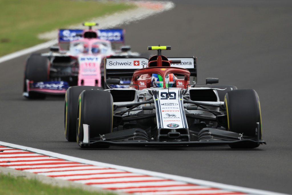 Hungarian GP Qualifying Formula 1 Racing Point Lance Stroll Alfa Romeo Antonio Giovinazzi