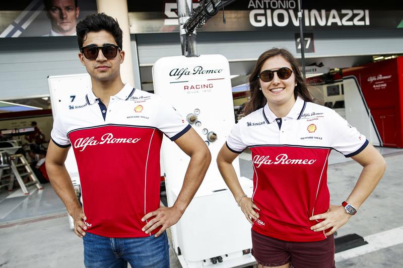 Alfa Romeo testing Formula 1 Correa Calderon