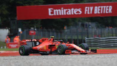 Photo of Leclerc fastest; Hamilton close in rainy FP2 session