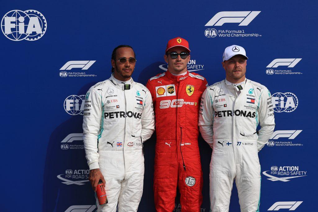 F1 Formula 1 Lewis Hamilton Mercedes qualifying italian grand prix ferrari leclerc