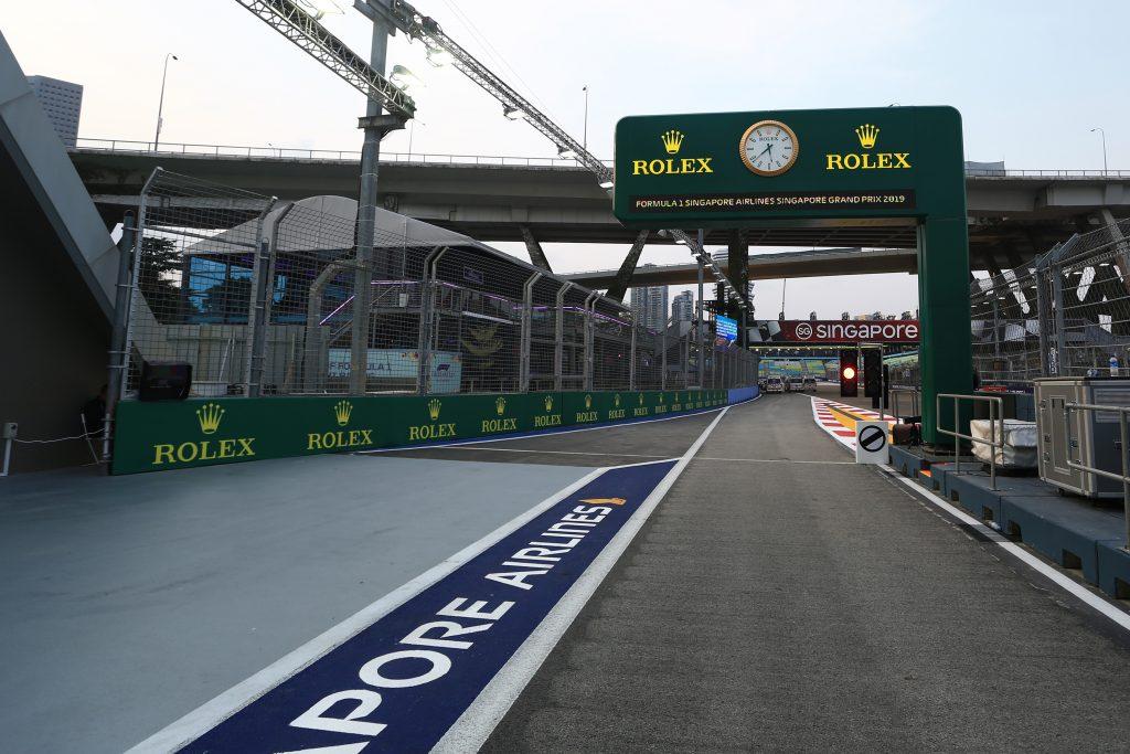 F1 Formula 1 Singapore Grand Prix practice results FP1