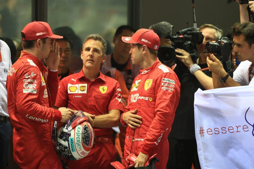 F1 Formula 1 Singapore Grand Prix Ferrari Charles Leclerc Sebastian Vettel