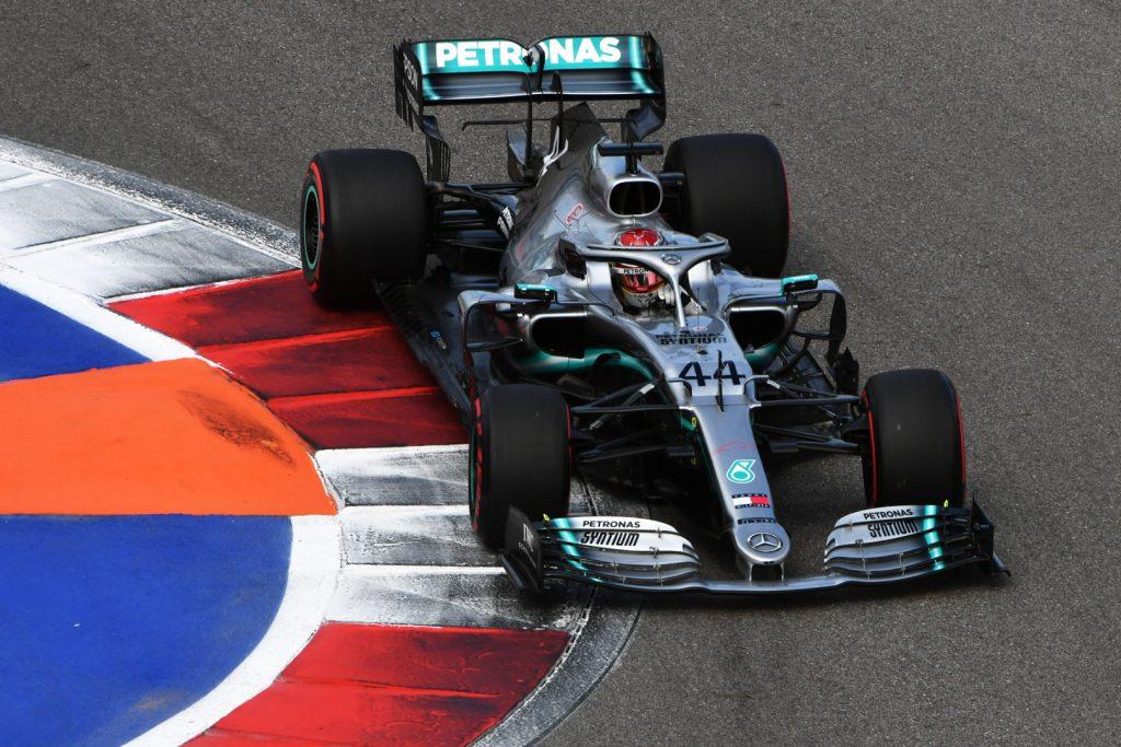 F1 Formula 1 Russian Grand Prix race winner Lewis Hamilton Mercedes Ferrari Vettel
