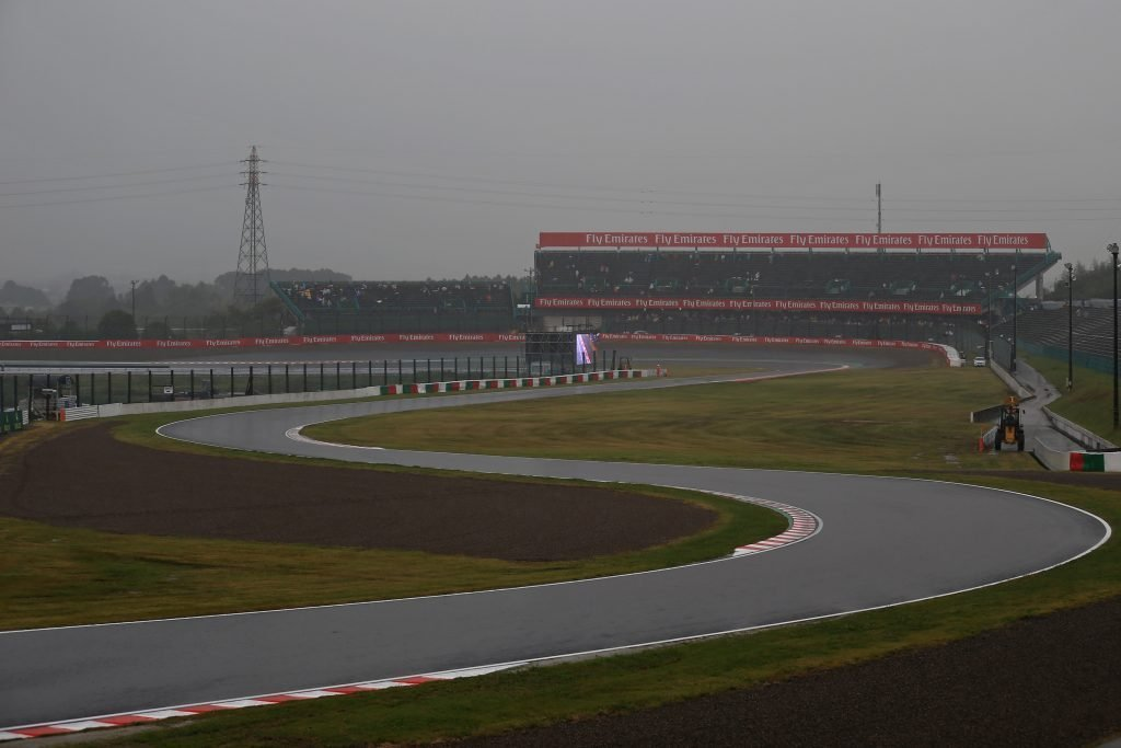 F1 Formula 1 Japanese Grand Prix Typhoon