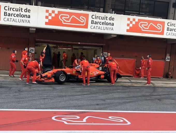 F1 Formula 1 testing Ferrari Pirelli Red Bull Mercedes
