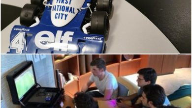 Photo of Grosjean builds a Tyrrell; other drivers hold a FIFA tournament!