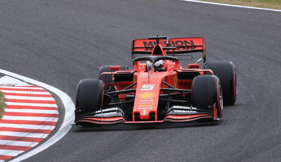Formula 1 Ferrari Sebastian Vettel Japanese Grand Prix Suzuka