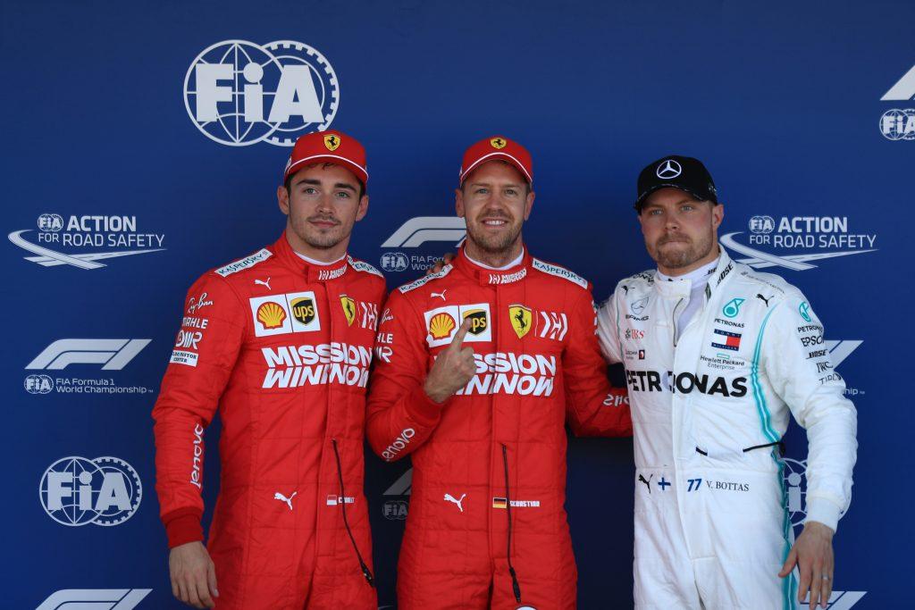 Vettel Leclerc Ferrari Bottas Mercedes Japanese Grand Prix Suzuka Qualifying