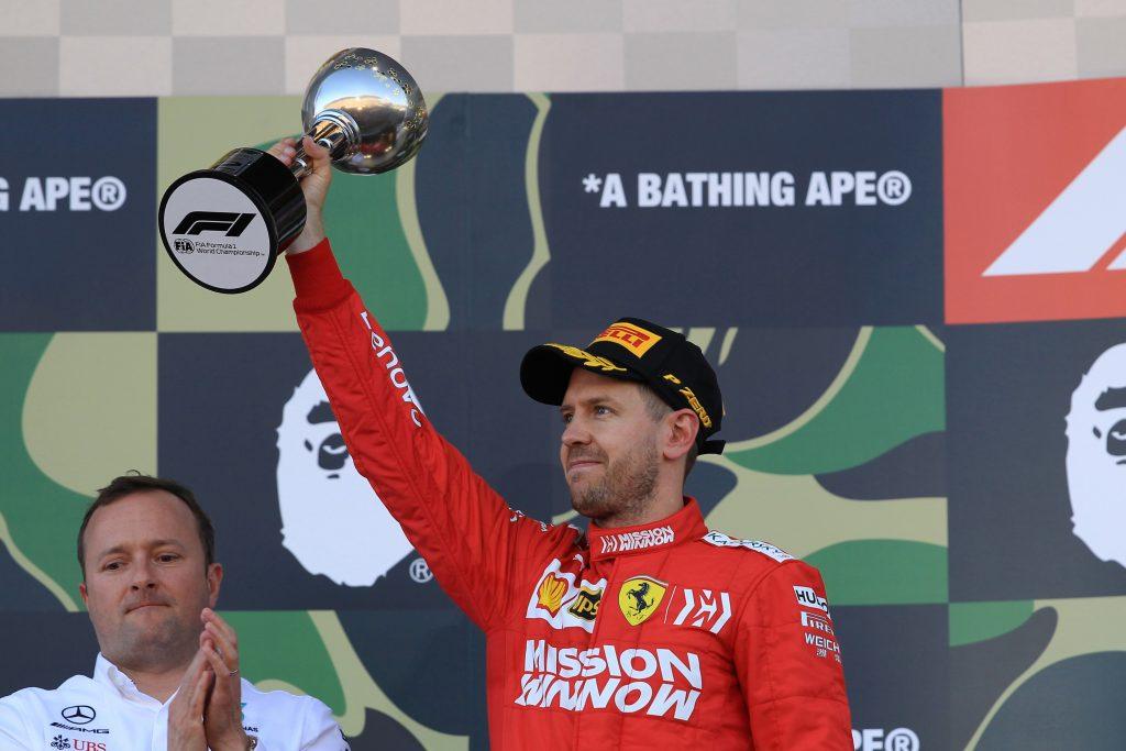 jumped the start F1 Formula 1 Formula One Japanese Grand Prix Sebastian Vettel Ferrari