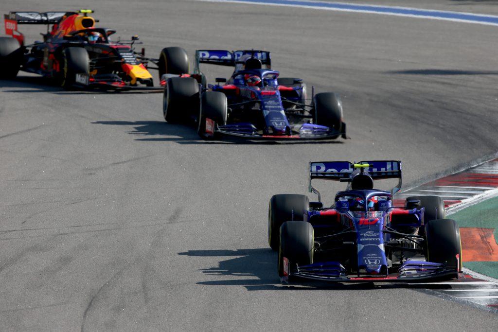 Toro Rosso Daniil Kvyat Pierre Gasly