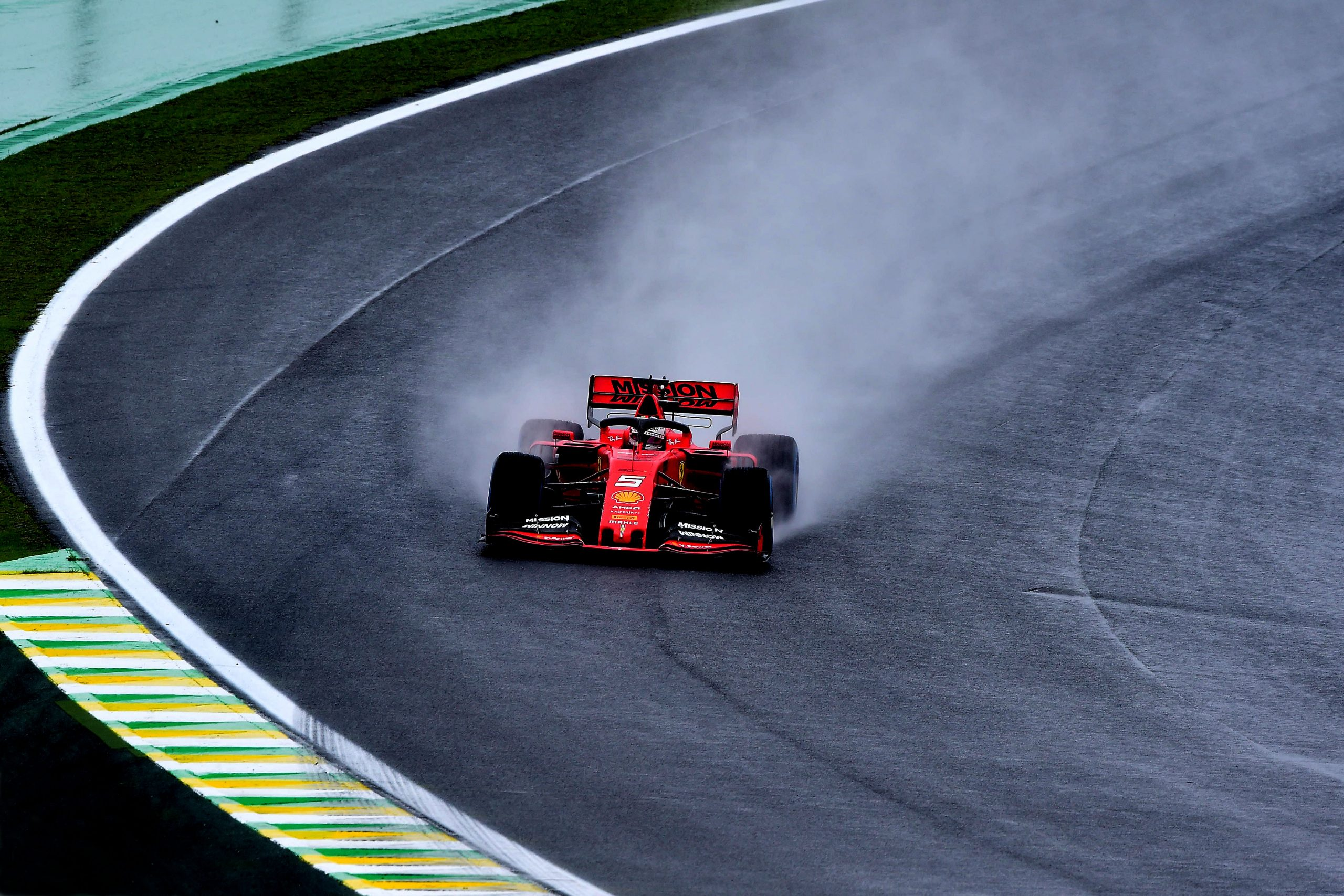 practice F1 Formula 1 Formula One Brazilian Grand Prix Ferrari Vettel Leclerc