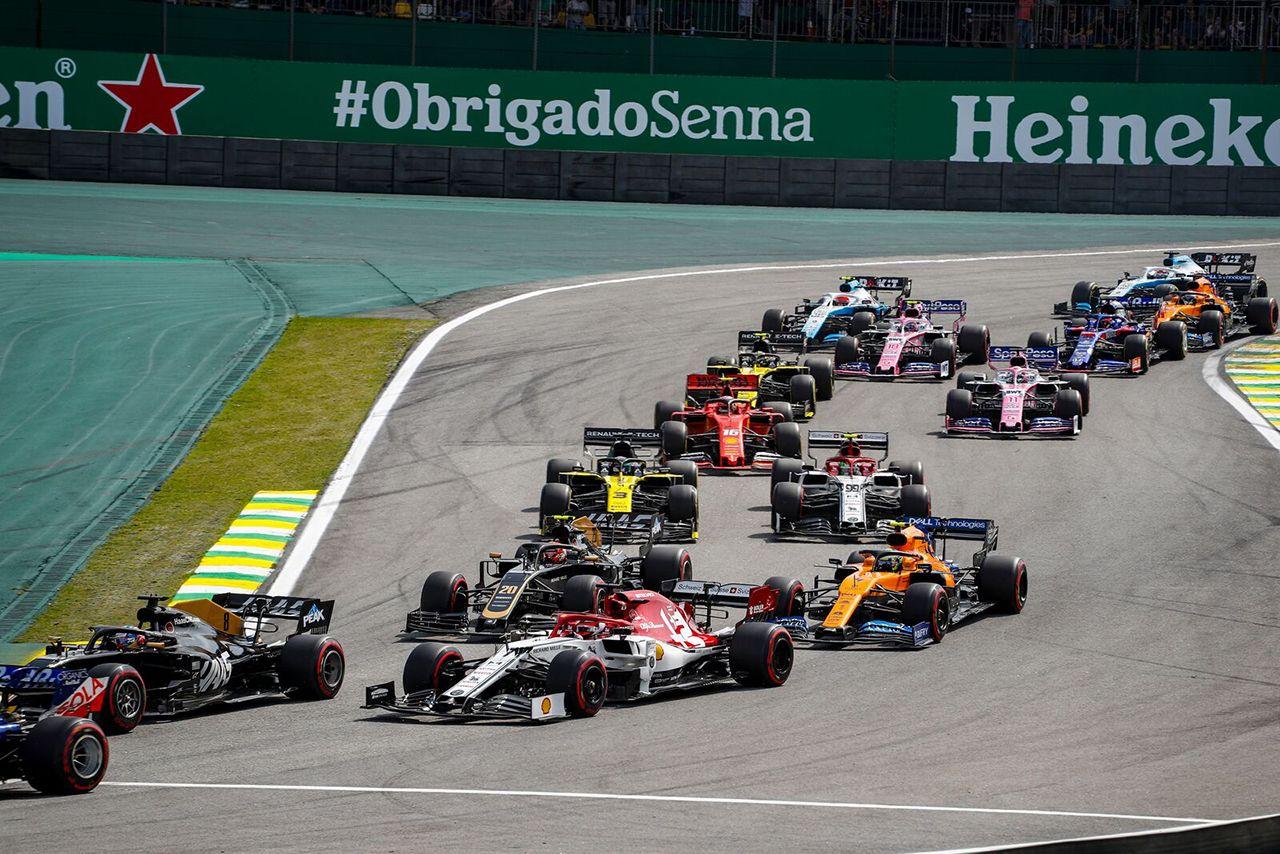 F1 Formula 1 Formula One Brazilian Grand Prix Alfa Romeo Kimi Raikkonen and Antonio Giovinazzi best result of the season
