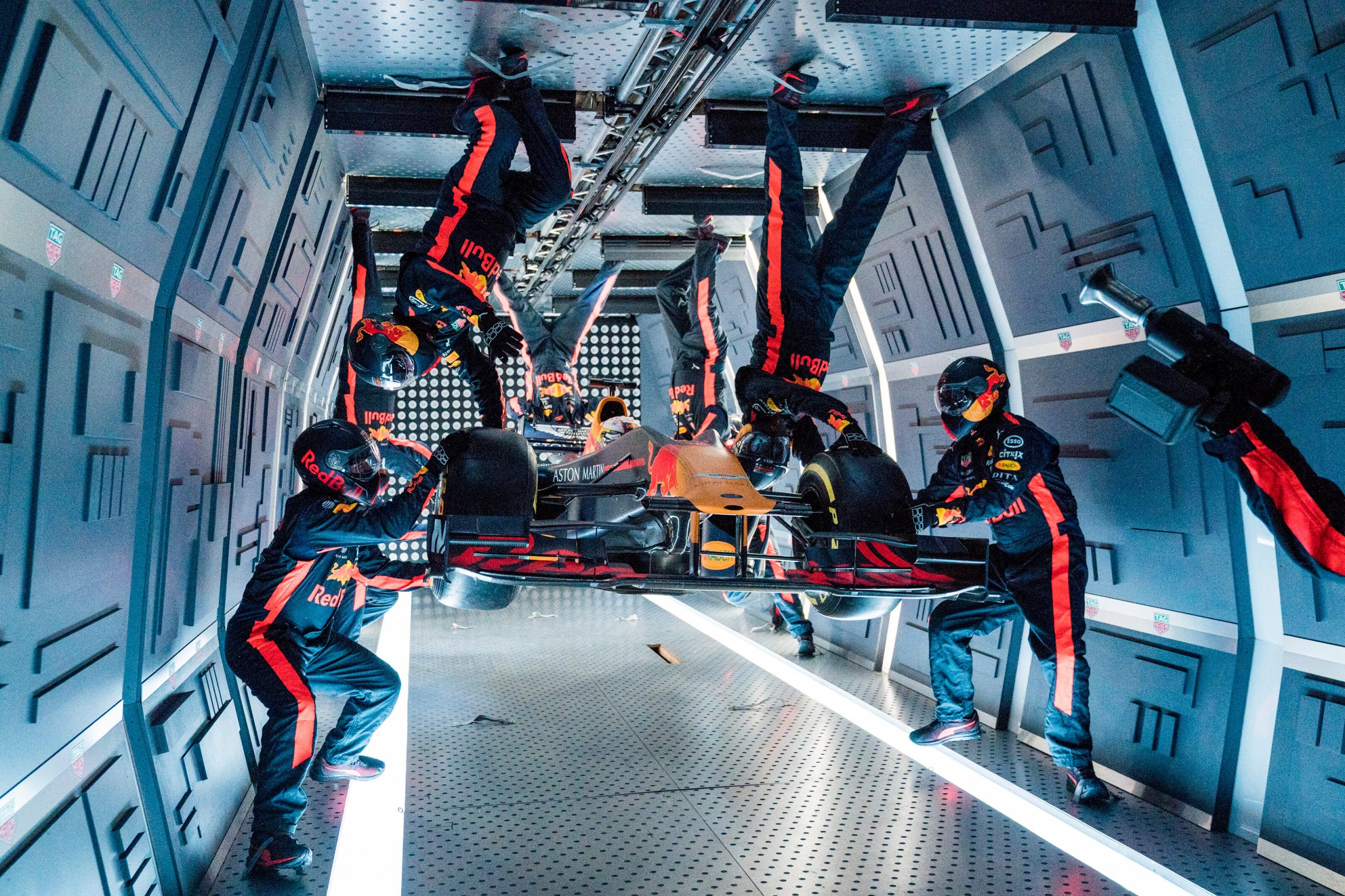 Red Bull zero gravity cosmonaut training zero gravity pitstop