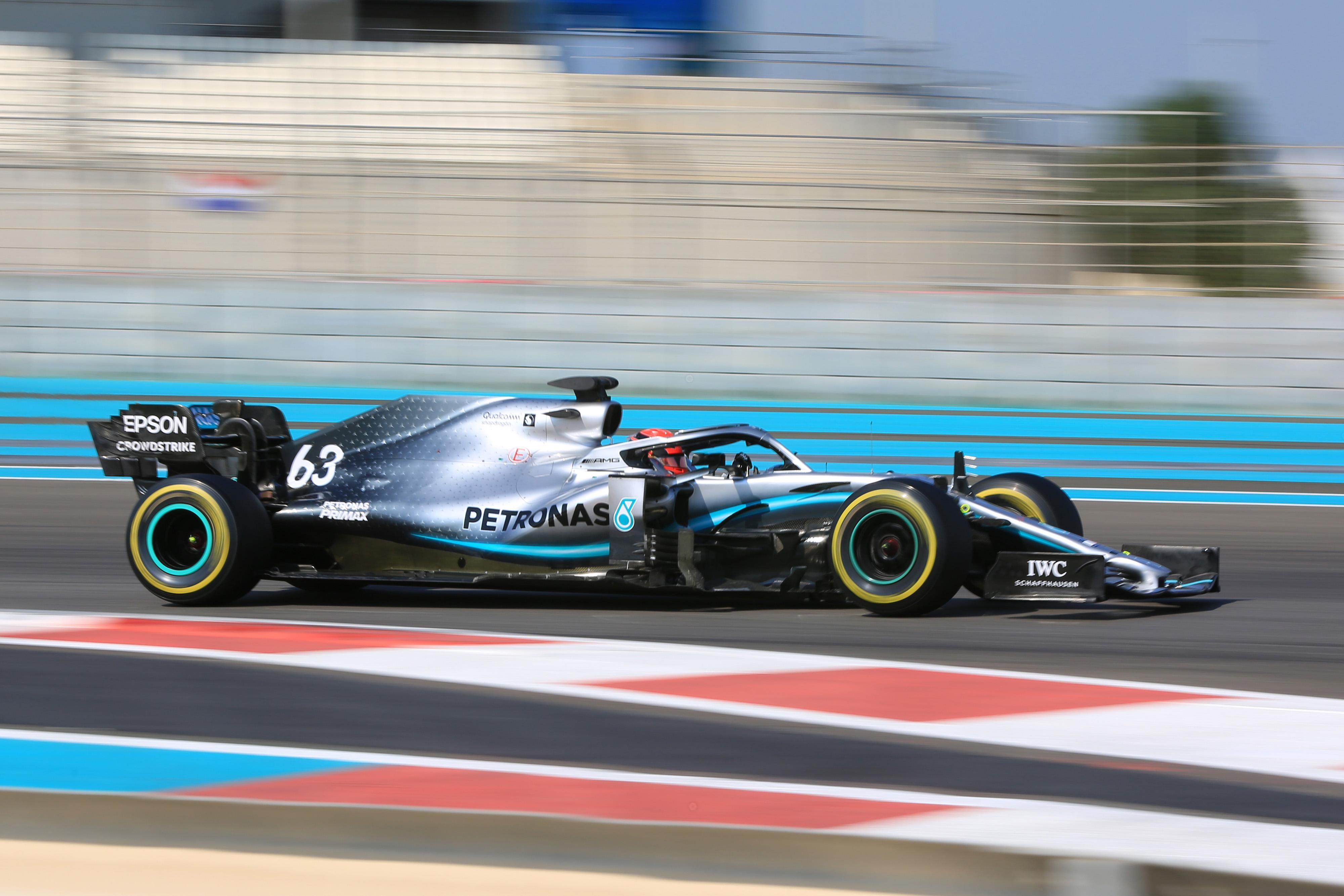F1 Formula 1 Formula One Abu Dhabi George Russell Mercedes testing