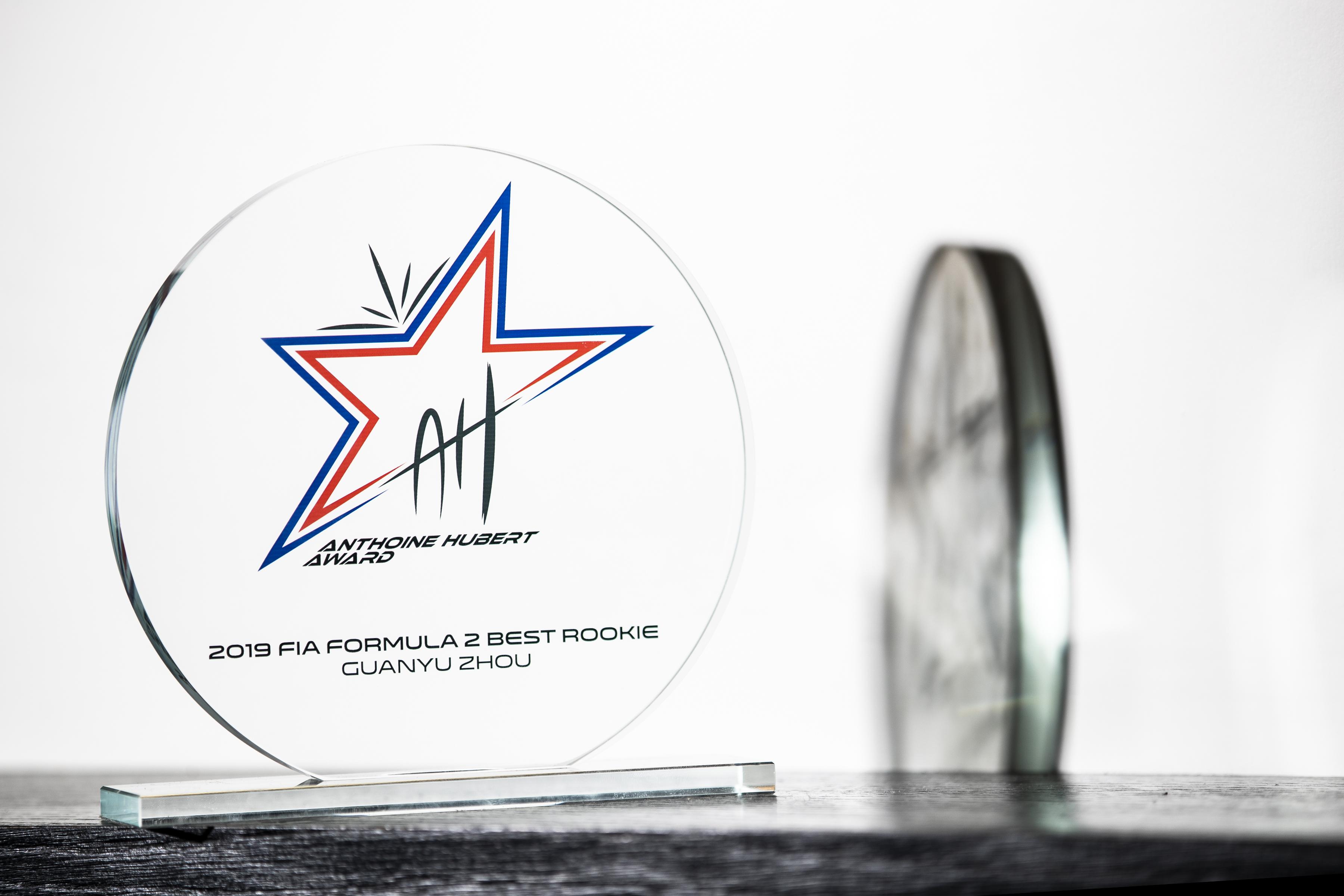 F1 Formula 1 Formula 2 Anthoine Hubert Award Guanyu Zhou Bruno Michel