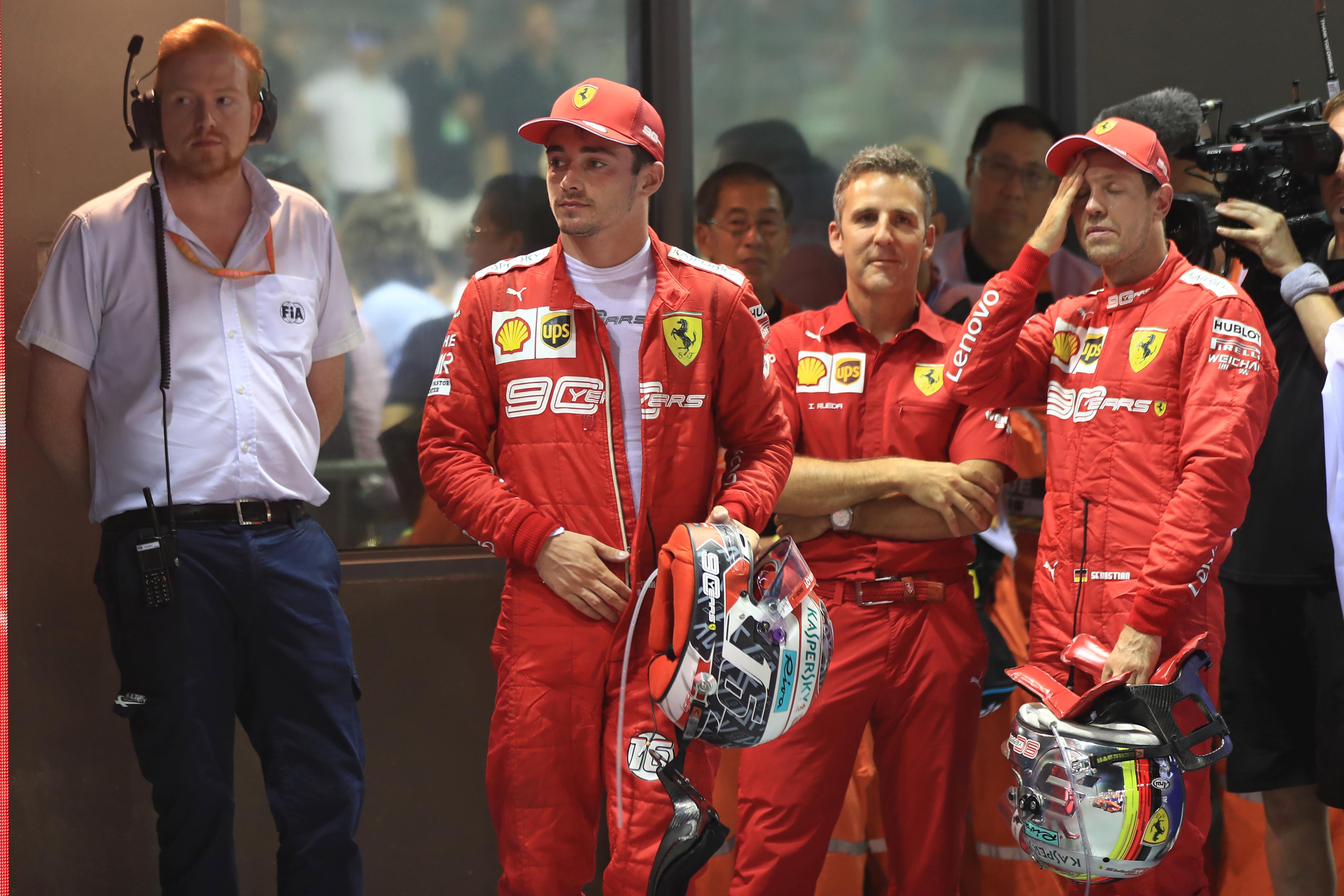 F1 Formula 1 Charles Leclerc Ferrari Sebastian Vettel