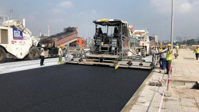 Photo of Final asphalt layer being laid at Vietnam's Hanoi Circuit