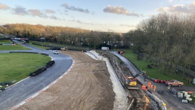 Photo of Brands Hatch undergoing construction for improvement works